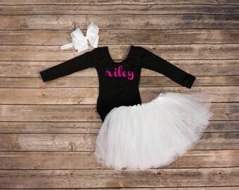Personalized leotard. monogram girls shirt, toddler leotard, gymnastics leotard, custom girls birthday outfit, girls dance leotard, infant