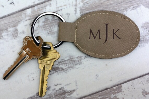 monogram keychain key chain monogrammed engraved gift idea