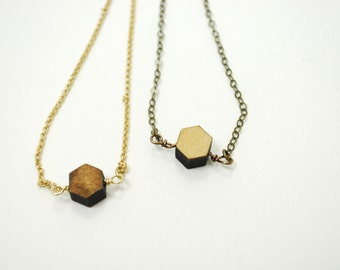 Simple Remnant - Wooden Laser Cut Necklace