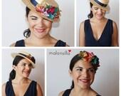 Boater Orkney. Detachable for guest wedding. DIAdem + Hat