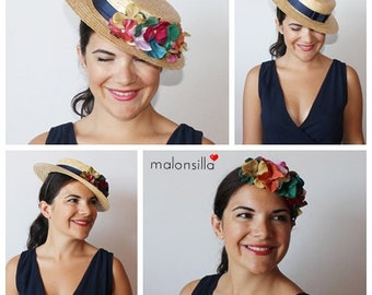 Boater Orkney. Detachable for guest wedding. DIAdem + Hat