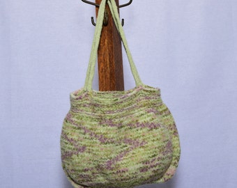Green Felted Purse