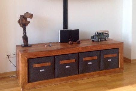 regalkorb aus filz mit leder griff farbe cognac auch passend. Black Bedroom Furniture Sets. Home Design Ideas