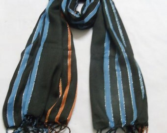 Revival stripe silk scarf