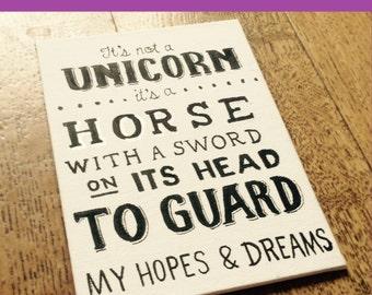"It's not a unicorn...: 5""x7"" print"