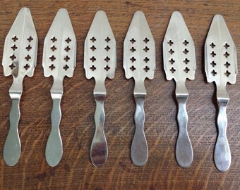 Set of 6 absinth spoons
