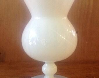 Nice opaline vase on foot