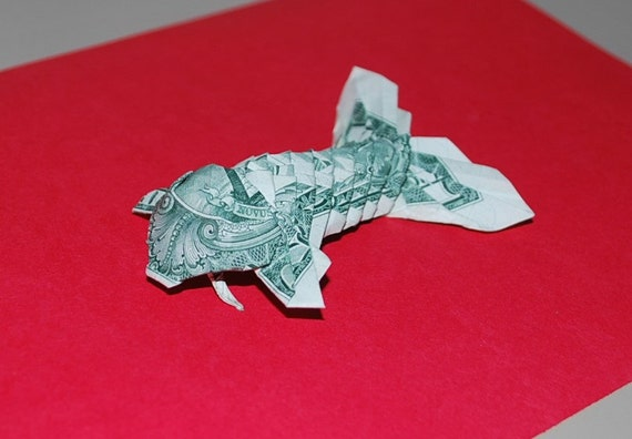 Money origami origami fish koi fish us dollar bill for Dollar bill origami fish