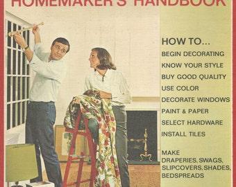 Vintage Book, 1001 Decorating Ideas: Homemaker's Handbook, Conso  Pub. 1969