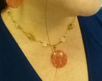 Cherry Quartz Necklace, Women's Mothers Day Gifts, Jewelry Set Available with Earrings
