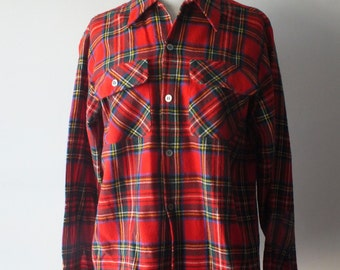 Vintage Hudson's Bay Co wool shirt + Canadiana plaid button down