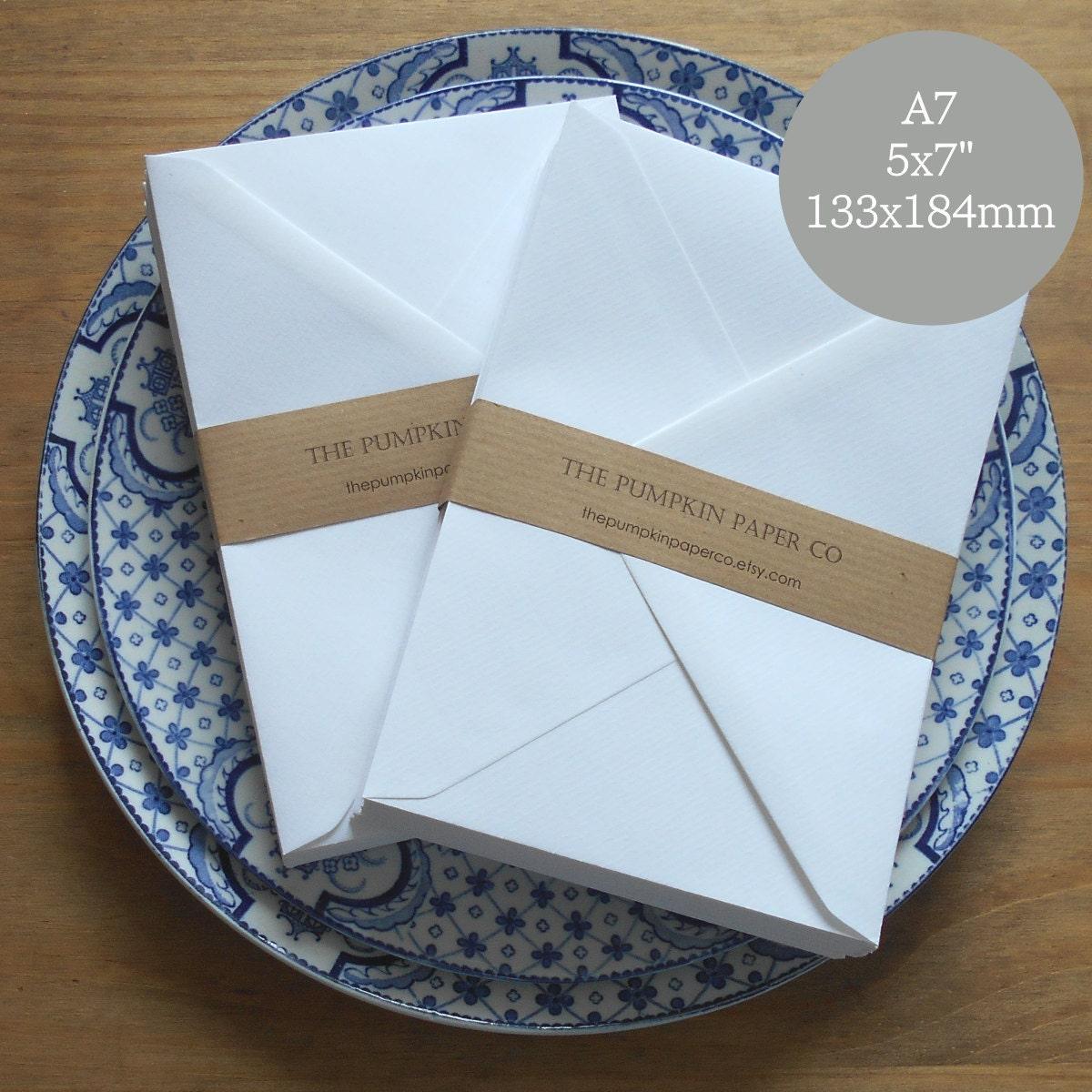 25 5x7 wedding envelopes a7 envelopes white for invitations