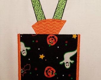 Applique Pocket - Witch Legs - Machine Embroidery File Instant Download