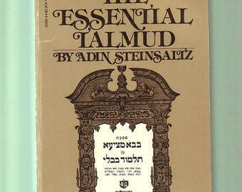 The Essential Talmud by Adin Steinsaltz. 1977 Paperback In Good Used Condition*.  Jewish Religion.