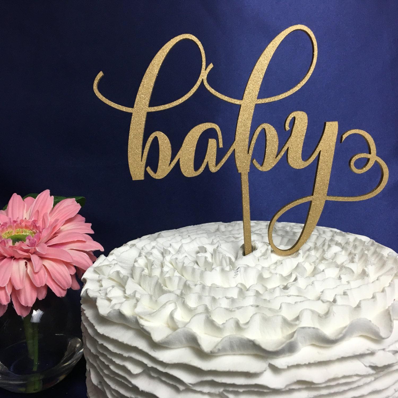 Baby Shower Cake Topper Gold Cake Topper Rose Gold Cake