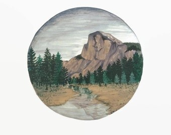 Yosemite Print, Yosemite Painting, Yosemite Art, Mountain Print, Forest Print, River Print, Landscape Painting, Boho Art, Nature Print