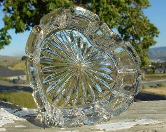 "Lead Crystal, Heart-Shaped Trinket Box, 4"" x 4-1/4""x 1-3/4"" Deep"