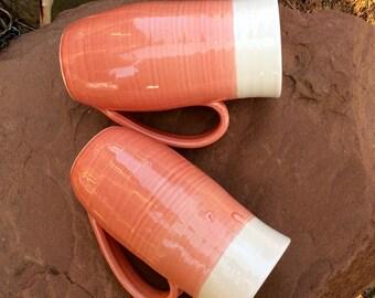 Candy Coral Pottery Mug