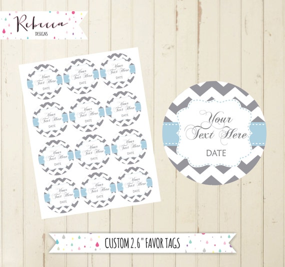 Grey Favor Tags Printable Baby Shower Thank You