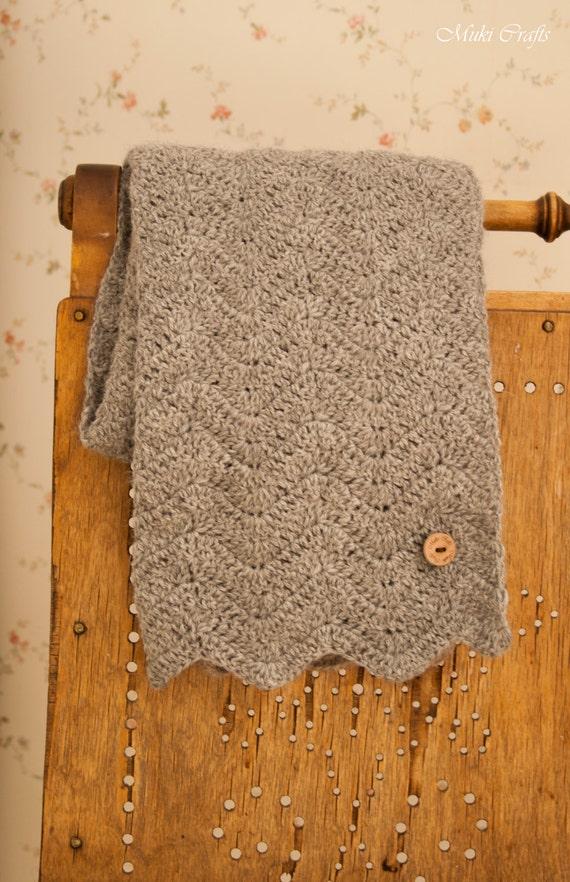 CROCHET PATTERN basic chevron scarf Sandy (S/M/L sizes)