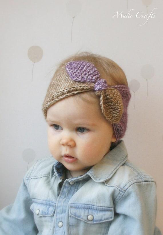 KNITTING PATTERN turban bow headband headwrap Rita (newborn/6m/1y/3y/child/adult woman sizes)