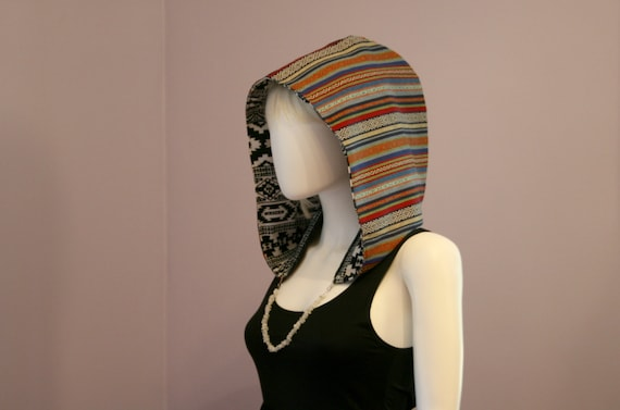 Crystal Hoods / festival hood / reversible / colorful / geometric