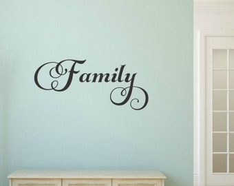 Family Wall Decal Family Vinyl Decal Family Word Decal Picture Wall Decal  Family Decal Vinyl Family Decal Family Wall Words