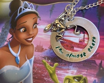 I'm Almost There Tiana Princess and the Frog Necklace