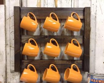 Coffee Mug Rack - Coffee Mug Holder - Coffee Cup Holder - Kitchen Wall Decor - Cup Rack - Home Decor - Cup Holder - Coffee Cup Storage