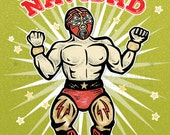 LUCHADOR! //  Merry Christmas Glittered Holiday Cards