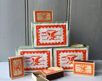 Original 1950's matchboxes