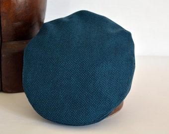 Sample Sale 10% - Light Petrol Wool Flat Cap - Size 57 cm