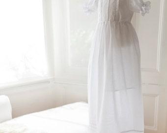 Christening Gown ,Traditonal Baptism Gown Dress +Bonnet