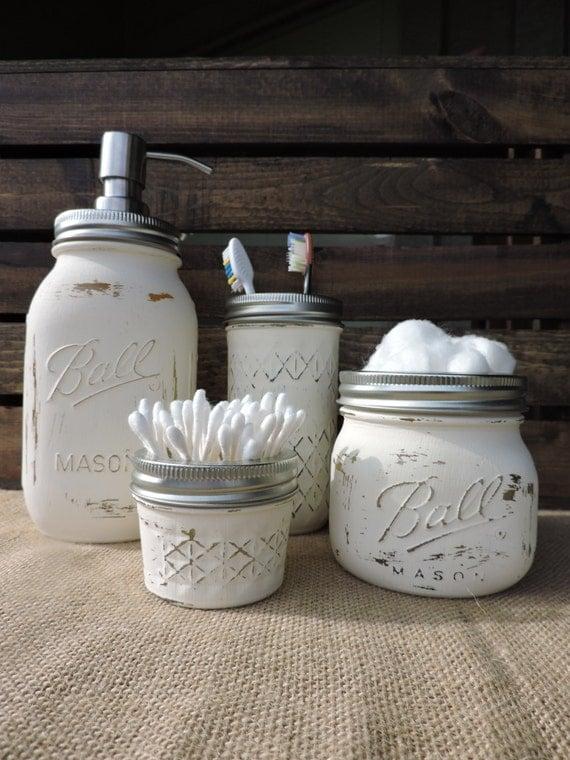 jar bathroom set jar bath set jar decor