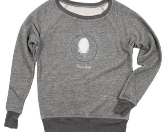 Live A Little Ladies Crew Neck Sweater