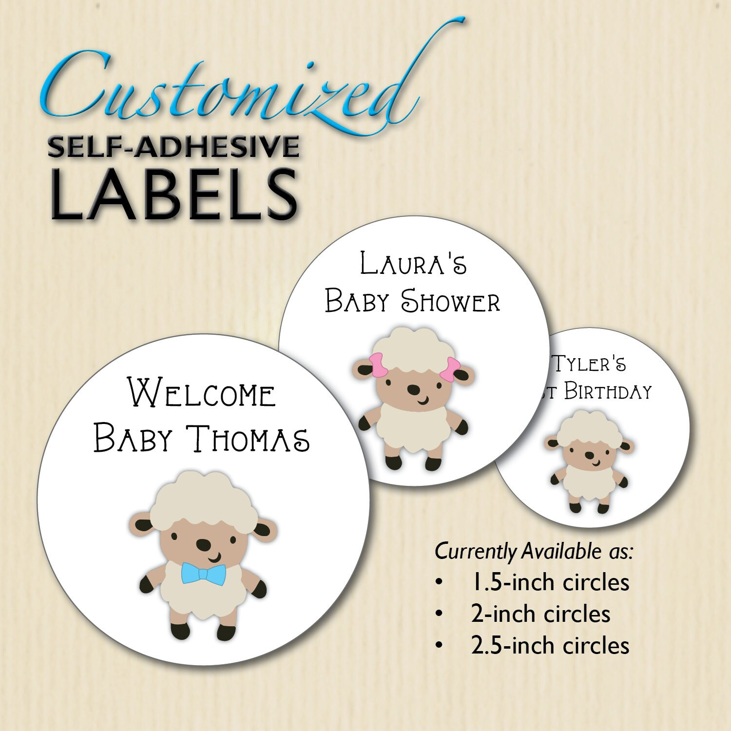 little lamb baby shower stickers 1st birthday favor labels candy