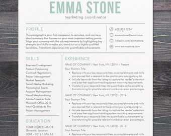 creative resume template modern design mac or pc word free cover letter - Creative Resume Templates Free Word
