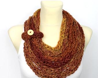 Knit Infinity - Women Knit Scarf - Chunky Scarf - Bulky Infinity - Knit Loop Scarf - Knit Chain Scarf - Womens Knit Infinity - Gift Idea