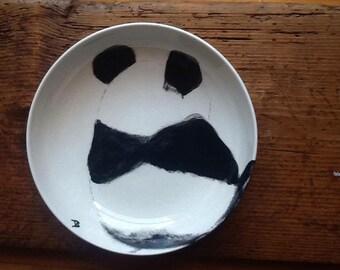 Ceramic dish with Panda/Pottery Handmade Panda