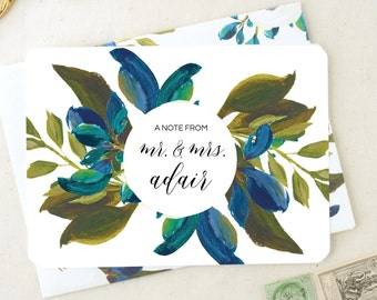 Couples Stationary. Custom Gifts. Thank You Cards Wedding. Blank Thank You Cards. Floral Mr. and Mrs. Thank You Notecards.Couple Note Cards.