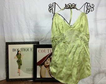 Green Silk Cami