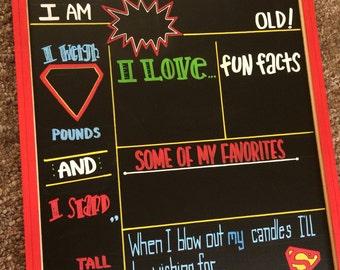 SALE TODAY ONLY! Reusable Newborn Watch Me Grow Milestone Chalkboard