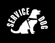 190 Service Dog Decal Sitting