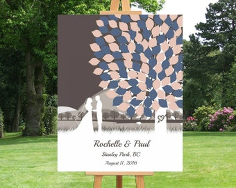 Modern Wedding Tree Guest Book Alternative Guest Book Signature Tree Guest Book Keepsake Gift for Wedding Bridal Shower Guest Book - 39277