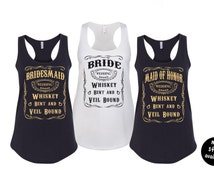 Country Bride Bachelorette Party Tank Top - Whiskey Bent and Veil Bound Tank Top - Bride & Bridesmaid Shirt