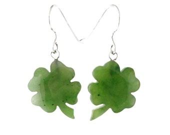 Jade Shamrock Earrings