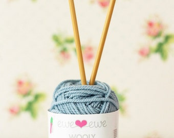 Sky Blue Superwash Merino Wool Worsted Yarn