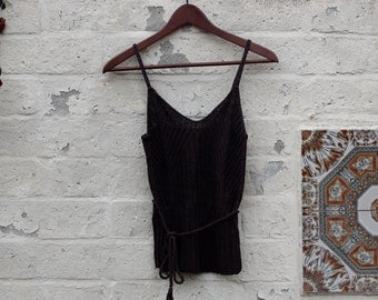 Brown Lace Spring Top