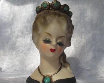 Headvase/vintage original lady head vase/planter Lady Aileen 1964 Inarco E1755