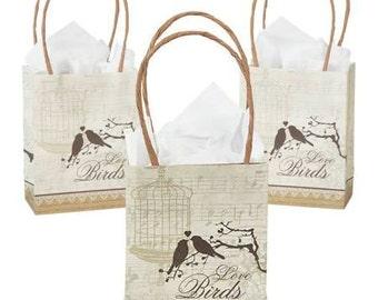 Wedding Love Birds Small Gift  Bag